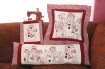 Picture of RedWork Snow People Hand Embroidery Pattern