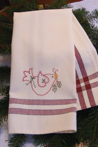 Picture of Freebie - Holiday Dove Tea Towel