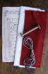 Picture of Bobbin Santa RedWork Embroidery Ornament