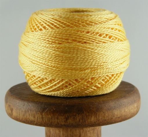 Picture of DMC Perle Cotton Pale Yellow #744