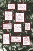 Picture of Santa RedWork  - Set of 10 - Hand Embroidery Ornaments