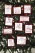 Picture of Snowmen RedWork Hand Embroidery Ornament Collection - Set of 10