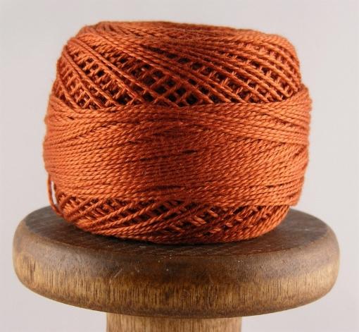 Picture of DMC Perle Cotton Dark Burnt Orange #900