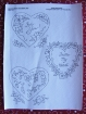 Picture of Hearts & Flowers RedWork Tea Towels - Hand Embroidery