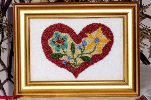 Picture of Hearts & Flowers Pattern - including printed fabric