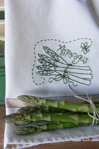 Picture of Fruit & Veggie - Asparagus - Hand Embroidery Pattern