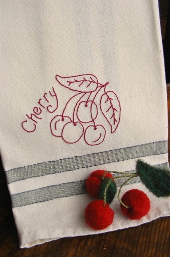 Picture of Fruit & Veggie - Cherry - Hand Embroidery Pattern