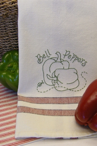 Picture of Fruits & Veggie - Bell Peppers - Hand Embroidery Pattern