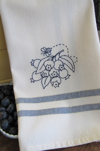 Picture of Fruits & Veggie - Blueberries - Hand Embroidery Pattern