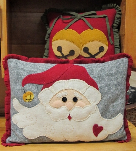 Picture of Jingle Bell Santa Pillows