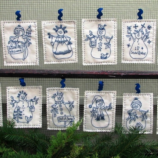 Picture of Snowmen by the Dozen - Hand Embroidery