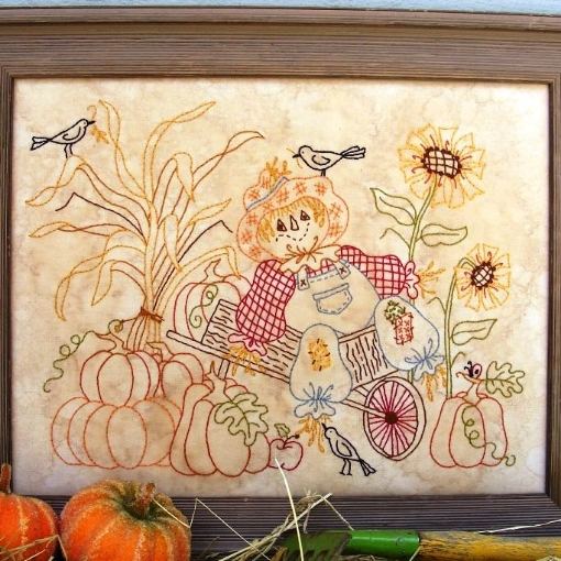 Picture of Scarecrow In Wheelbarrow