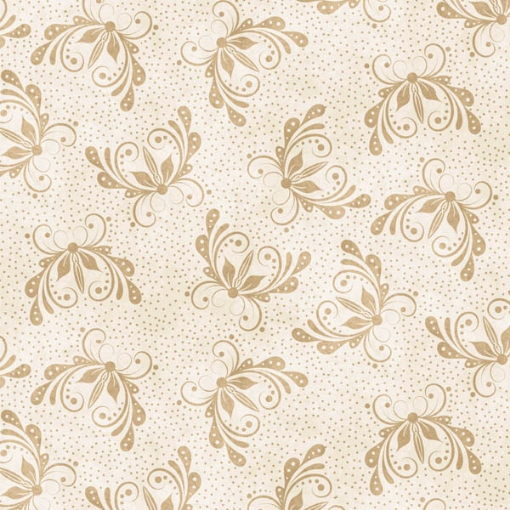 Picture of Butterfly White/Tan Cotton Fabric