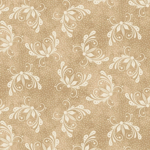 Picture of Butterfly Natural Tan Background Cotton Fabric