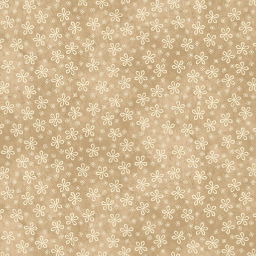 Picture of Lazy Daisies Tan Cotton Fabric