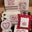 Picture of Hearts & Flowers - Machine Embroidery