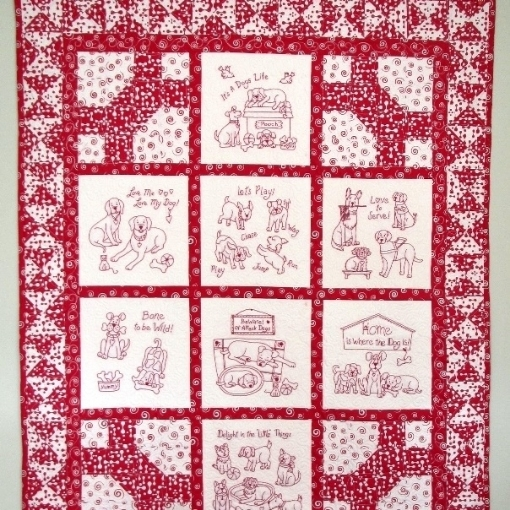 It's a Dog's Life Quilt - Machine Embroidery Pattern