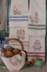 Picture of Easter Machine Embroidery Tea Towels