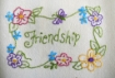 Picture of Love, Dream, Friendship Tea Towels - Hand Embroidery
