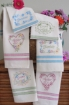 Picture of Love*Dream*Friendship Machine Embroidery Pattern for Tea Towels