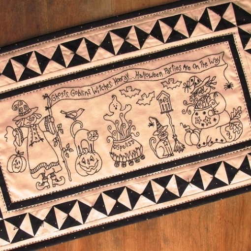 Picture of Witches Hooray-Machine Embroidery