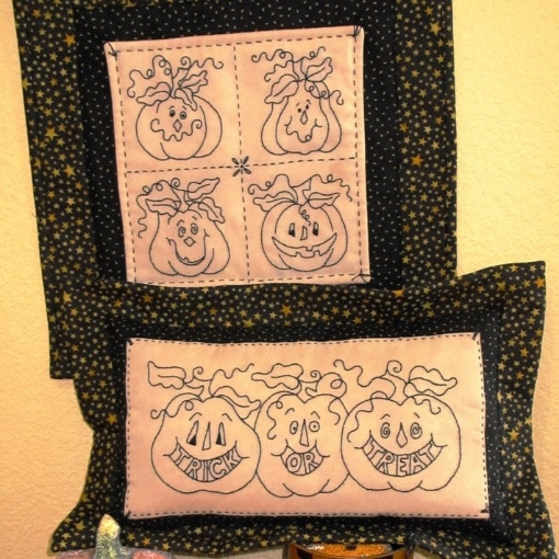 Picture of Trick or Treat Pumpkins - Machine Embroidery Download