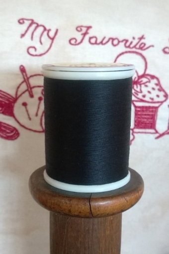 Picture of Black Machine Embroidery Thread