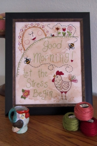 Picture of Good Morning! Let the Stress Begin Machine Embroidery