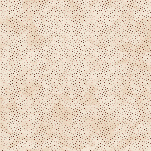Picture of Ditsy Dots Natural/Red Cotton Fabric