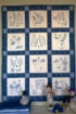 Picture of Snowmen & Reindeer Hand Embroidery Quilt