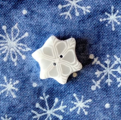 Picture of Snow Flake Button