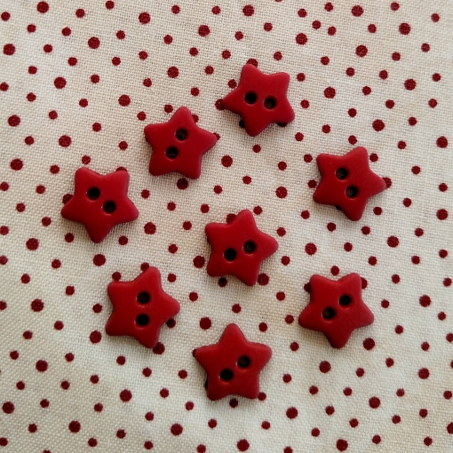 Picture of Red Mini Star Buttons
