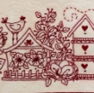 Birdhouse Garden Machine Embroidery Pattern
