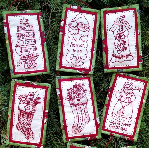 Picture of Long & Tall Holiday Ornaments-Machine Embroidery