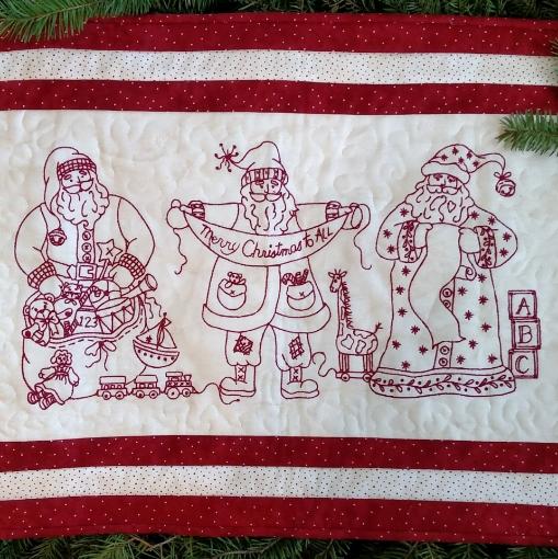 Picture of Santa Portrait Trio Machine Embroidery