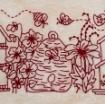 Birdhouse Garden Hand Embroidery Pattern