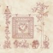 Picture of Stitched Garden Panel - Red