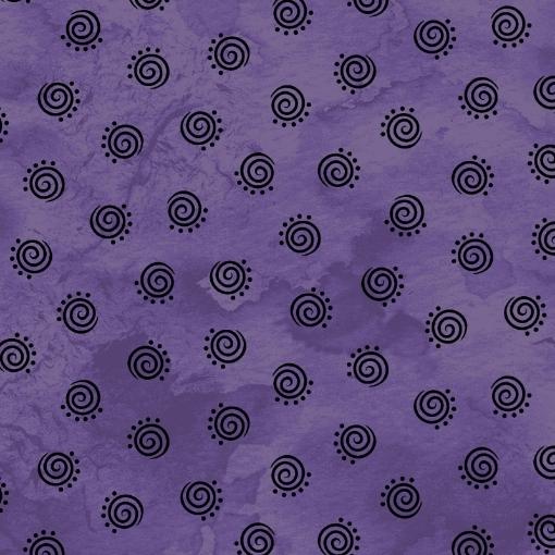 Picture of Halloweenie Geo Swirls - Purple