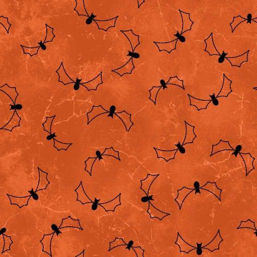 Picture of Halloweenie Stitchy Bats - Orange