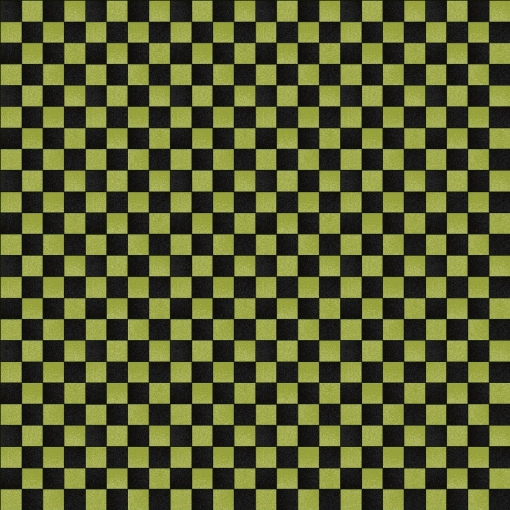 Picture of Halloweenie Simple Checkerboard - Green Cotton Fabric