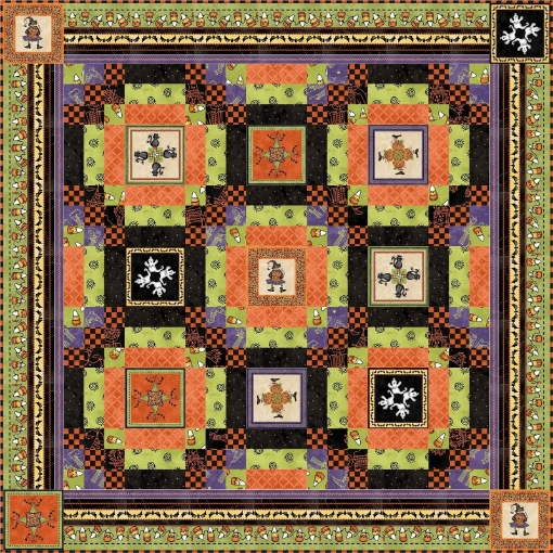 Picture of Free Quilt - Sweet Treats Halloweenie Quilt