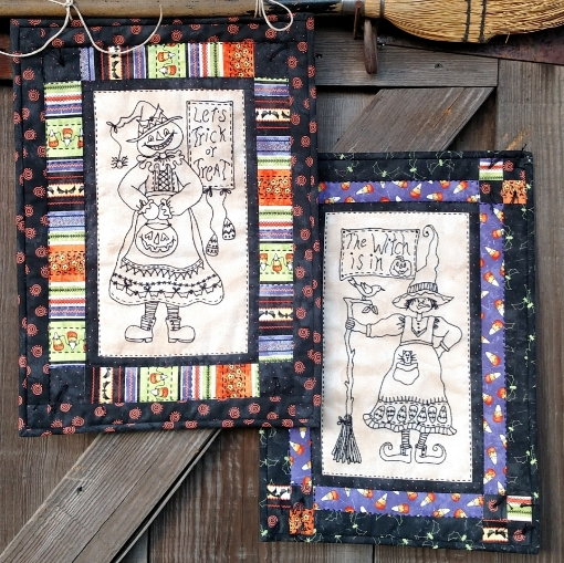 Picture of A Pair of Wicked Witches - Hand Embroidery - #1065