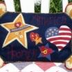 America Hooray Wool Applique Pillow Pattern