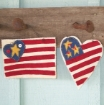 Picture of Wool Applique American Flaglette Trio