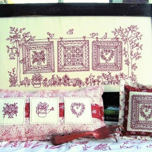 Picture of Quilts In The Garden - Hand Embroidery