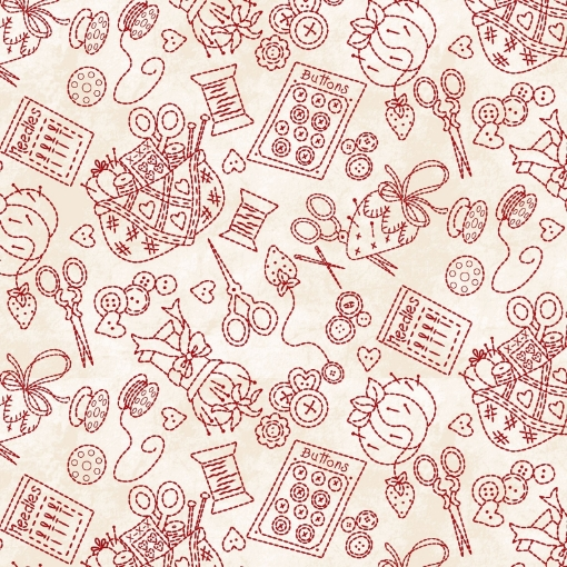 Picture of Stitching Stuff - Natural /Red