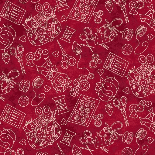 Picture of Stitching Stuff - Red Cotton Fabric