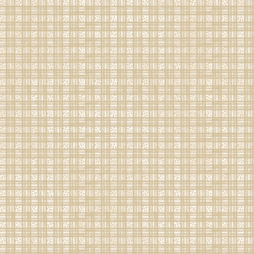 Picture of Dotted Plaid - Natural Cotton Fabric
