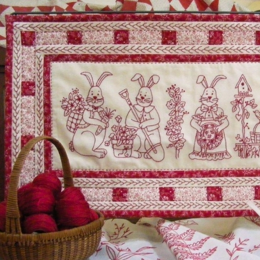 Picture of Bunny Bunch Table Runner - Hand Embroidery Pattern