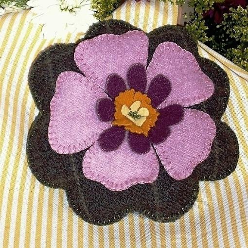 Pink Petal Pin Cushion Wool Applique Kit